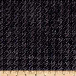 Minky Embossed Houndstooth Ash