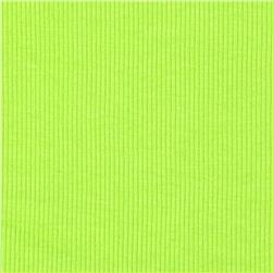 Stretch Rib Knit Lime Green