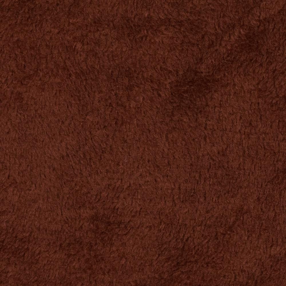 Plush Coral Fleece Solid Chocolate