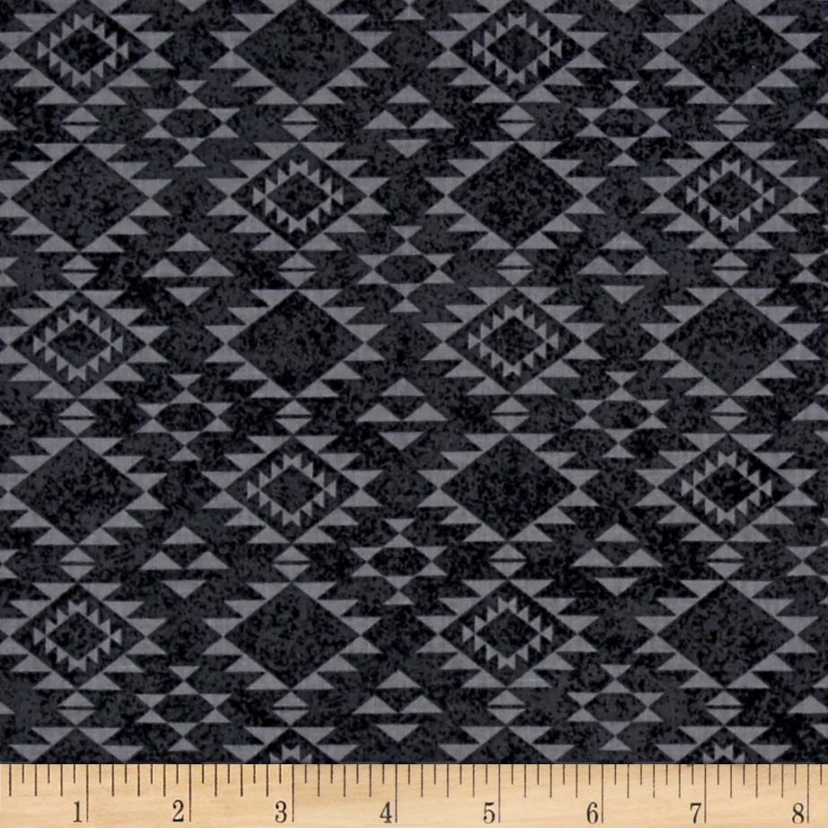 Cayenne Southwest Blanket Charcoal Fabric