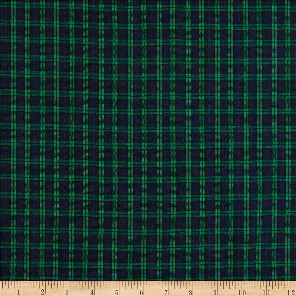 Classic Yarn Dyed Tartan Plaid Blackwatch Blue Green