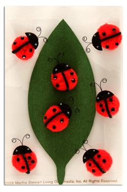 Martha Stewart Crafts Ladybug Pom Pom Stickers