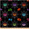 A Tail Of Two Kitties Cat Medallions & Fish Black