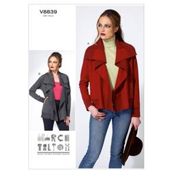 Vogue Misses' Jacket Pattern V8839 Size 0Y0
