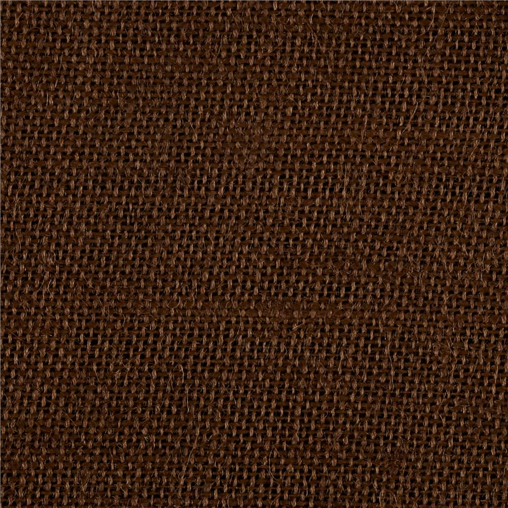 Burlap Chocolate Brown
