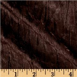 Stretch Panne Crinkle Velvet Brown