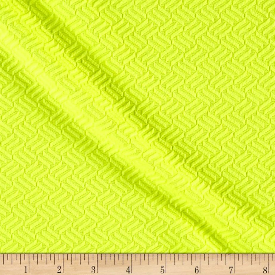 Liver Pool Double Knit Lattice Neon Yellow