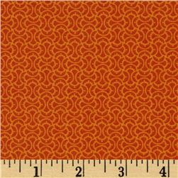 Timeless Treasures Marigold Squiggle Tile Spice