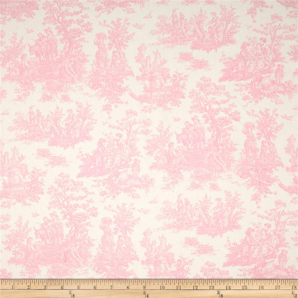 Premier Prints Jamestown Toile Baby Pink