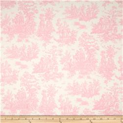 Premier Prints Jamestown Toile Baby Pink Fabric
