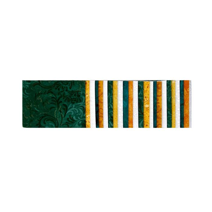 "#1 Fan Essential Gems 2.5"" Strips Green/Gold/White"