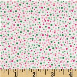 Scattered Dot Bright Pink Fabric
