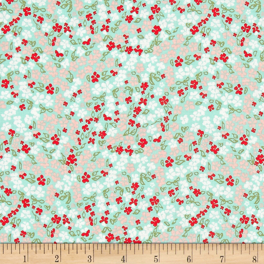Riley Blake Rustic Elegance Floral Mint Fabric by Christensen in USA