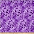 "Ivy 118"" Wide Back Leaves Purple"