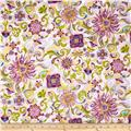 Sweet Flowers Metallic Abstract Floral Purple