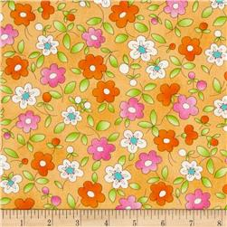 Daisy Mae Sunrise Mango Fabric