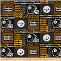 NFL Wide Cotton Broadcloth Pittsburgh Steelers Patchwork Black/Yellow