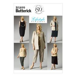 Butterick Women's Jacket, Top, Dress, Skirt and Pants Pattern B5899 Size RR0