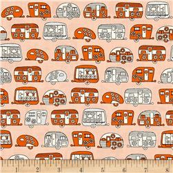 Kaufman On The Road Metallic Frilly Campers Orange