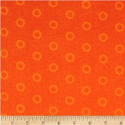 Mystic Forest Flannel Stitched Circles Orange