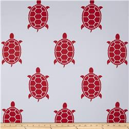 RCA Blackout Drapery Fabric Turtles White/Red