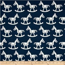 Premier Prints Rocking Horse Twill Premier Navy/Whitehite