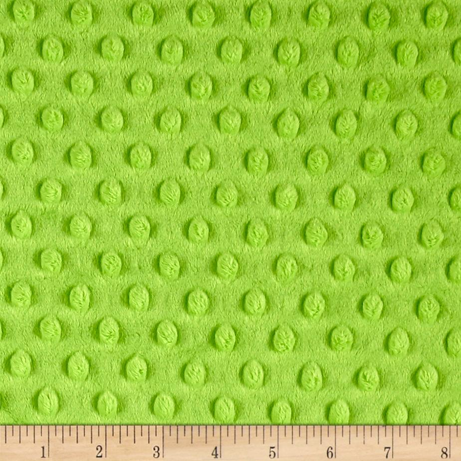 Michael Miller Minky Solid Dot Bright Lime