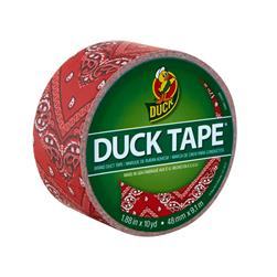 "Patterned Duck Tape 1.88"" x 10yd-Red Bandana"