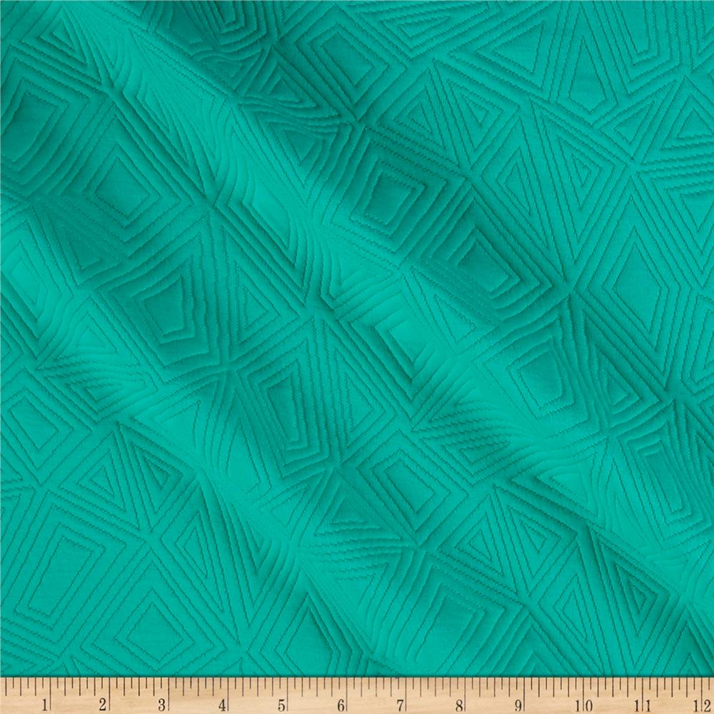 Diamond Double Knit Jacquard Green