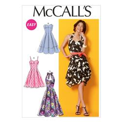 McCall's Misses' Dresses and Belt Pattern M6956 Size A50
