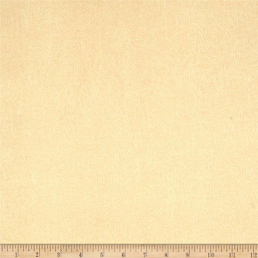 110'' Wide Flannel Quilt Backing Seacoast Ivory Fabric By The Yard
