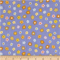 Kitschy Kawaii Mini Floral Blue/Multi Fabric
