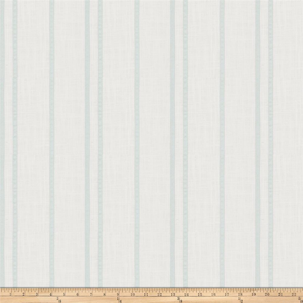 Trend 03649 Ribbon Stripe Linen Blend Mist Fabric