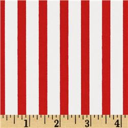 Pimatex Basics Stripe Red Fabric