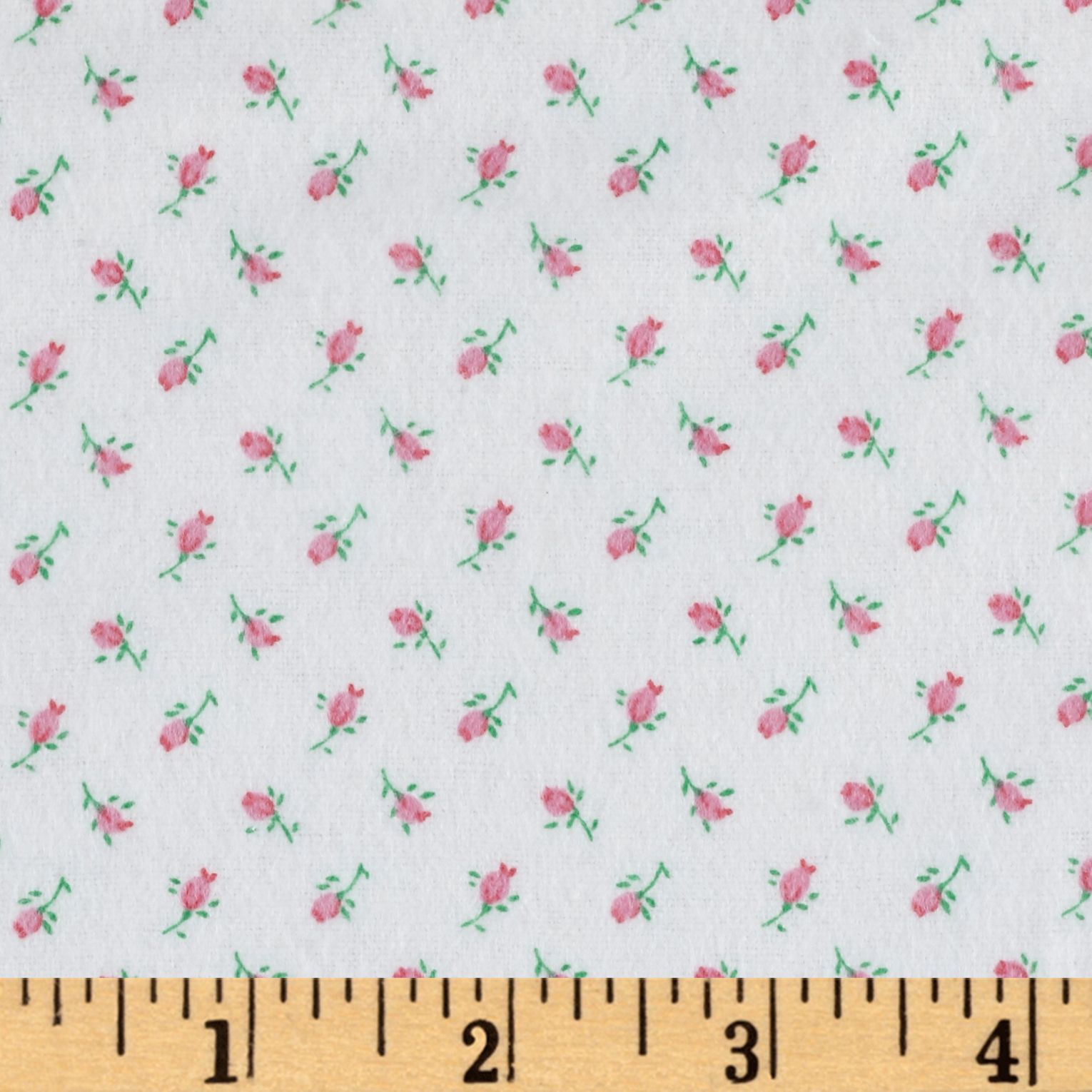 Comfy Flannel Rosebud Pink Fabric by A. E. Nathan in USA