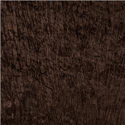 Stretch Crinkle Panne Velvet Velour Brown