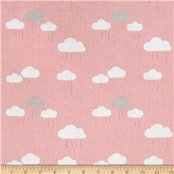 Riley Blake When Skies Are Grey Cloud Pink