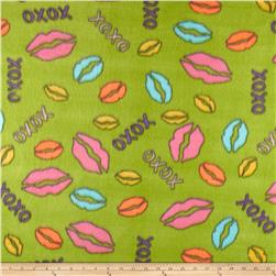 Fleece Print Lips Lime