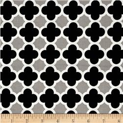 Riley Blake Quatrefoil Black/Gray