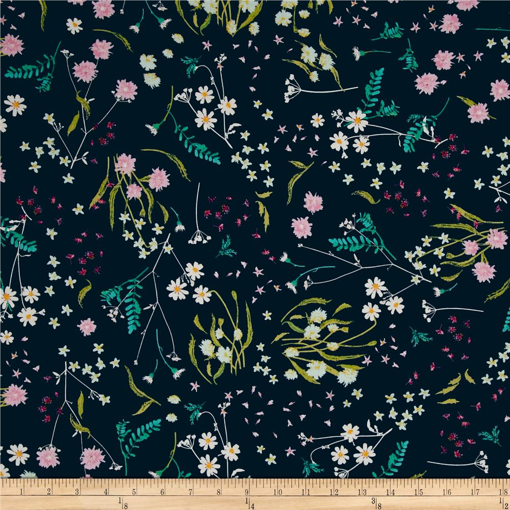 Art Gallery Voile Lavish Blossom Swale Depth Fabric