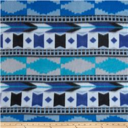 Fleece Print Southwest2 Blue