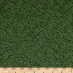 The Jinny Beyer Palette Leaf Scrolls Green