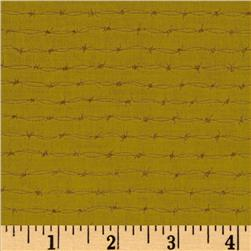 Canyon Trails Barbed Wire Ochre Fabric