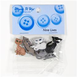 Dress It Up Embellishment Buttons Nine Lives