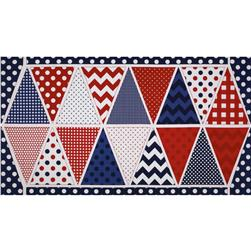 Riley Blake Holiday Banners Panel Patriotic Blue Fabric