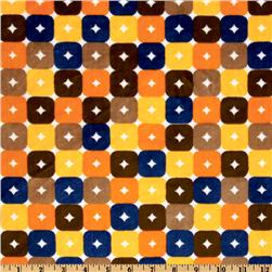 Kaufman Minky Cuddle Foxy Boxy Orange/Brown