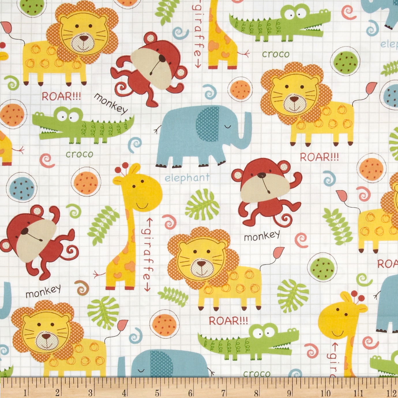Object moved for Childrens jungle print fabric