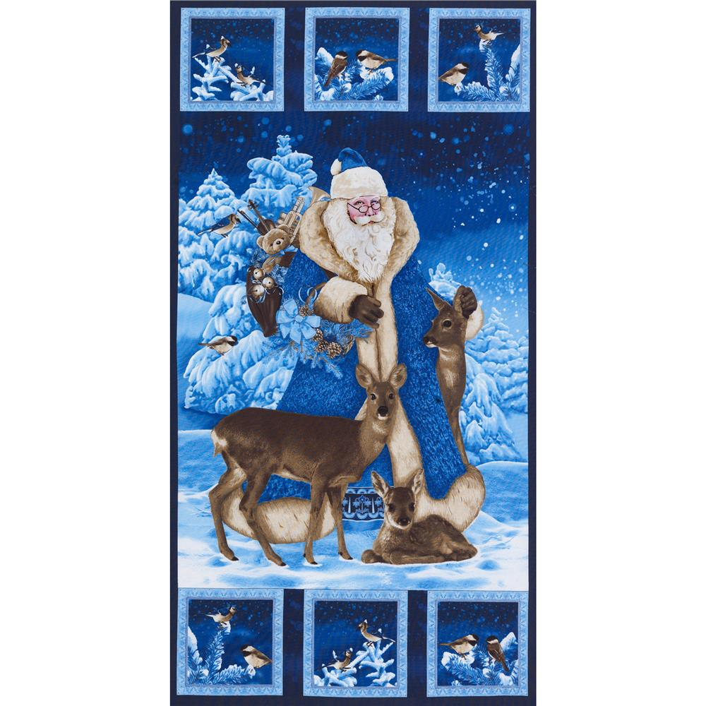 Timeless Treasures St. Nicholas 24 In. Panel Blue