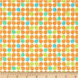Michael Miller Just My Type Retro Clover Orange