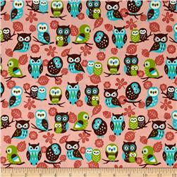 Animal Diary Owls Pink